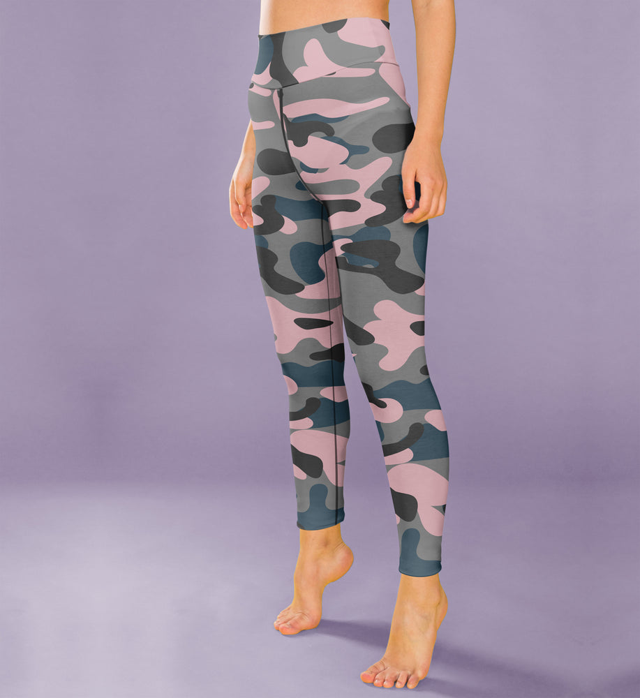 Mauve Camo Leggings, Capris and Shorts - MorphU LLC