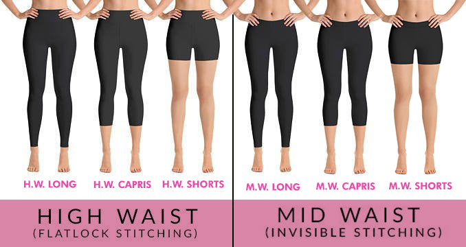 Needle leggings, Capris and Shorts - MorphU LLC