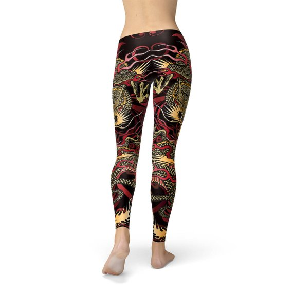 Load image into Gallery viewer, Womens Dragon Leggings