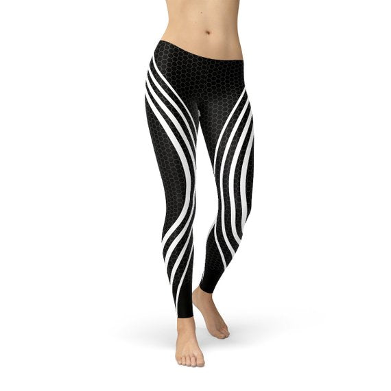 Womens Black Venom Leggings - MorphU LLC