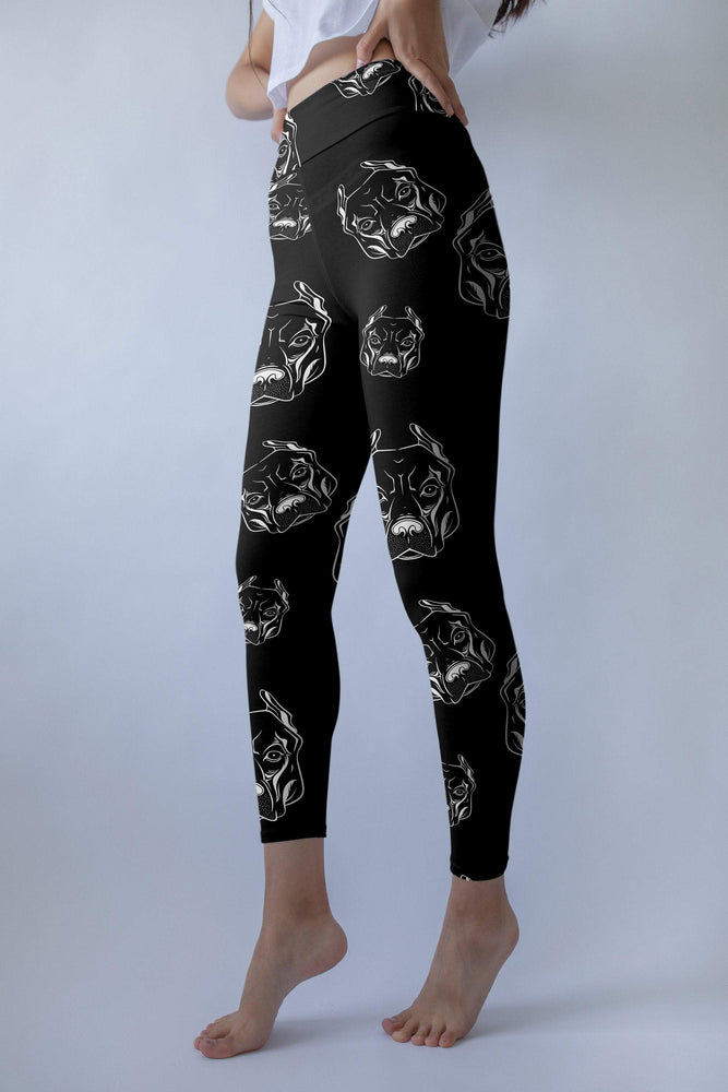 Load image into Gallery viewer, Black Pitbull leggings, Capris and Shorts - MorphU LLC