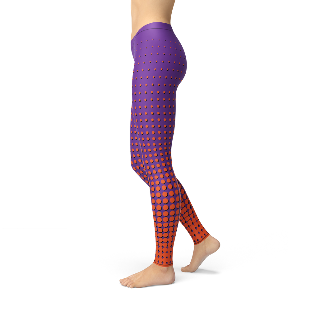 Load image into Gallery viewer, Avery Orange Dots Leggings - MorphU LLC