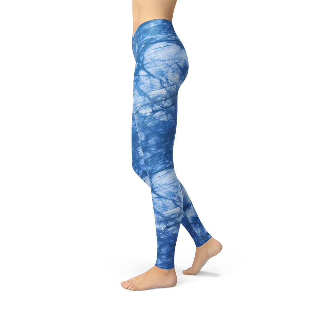 Load image into Gallery viewer, Jean Aqua Batik Leggings - MorphU LLC