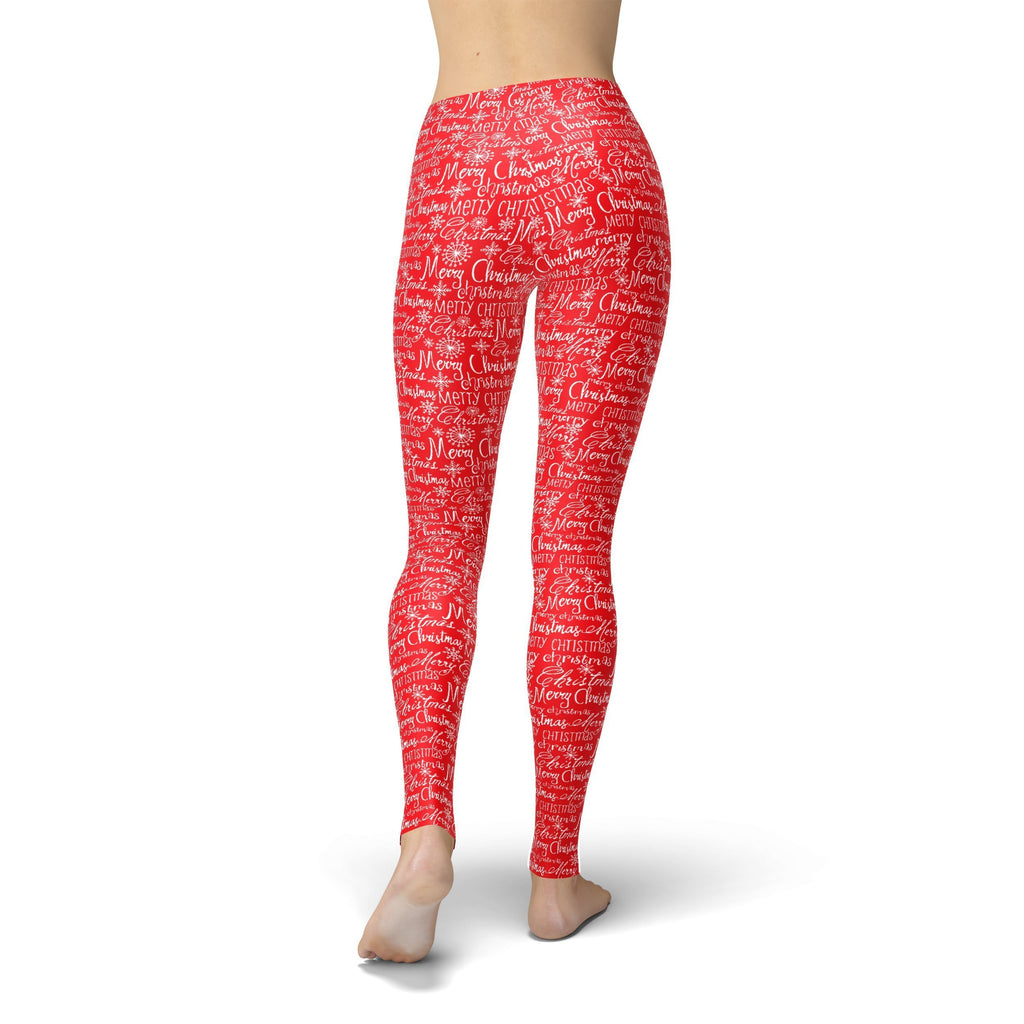 Jean Merry Christmas Leggings - MorphU LLC