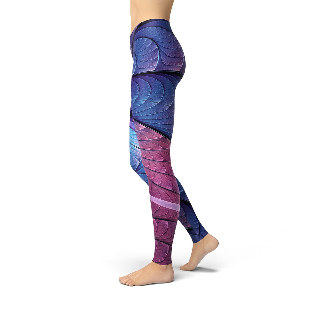 Jean Purple and Blue Scales Leggings - MorphU LLC