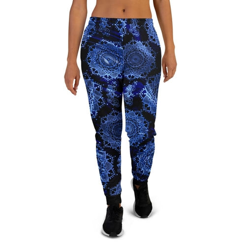 Load image into Gallery viewer, Women's Mandala Blue Joggers