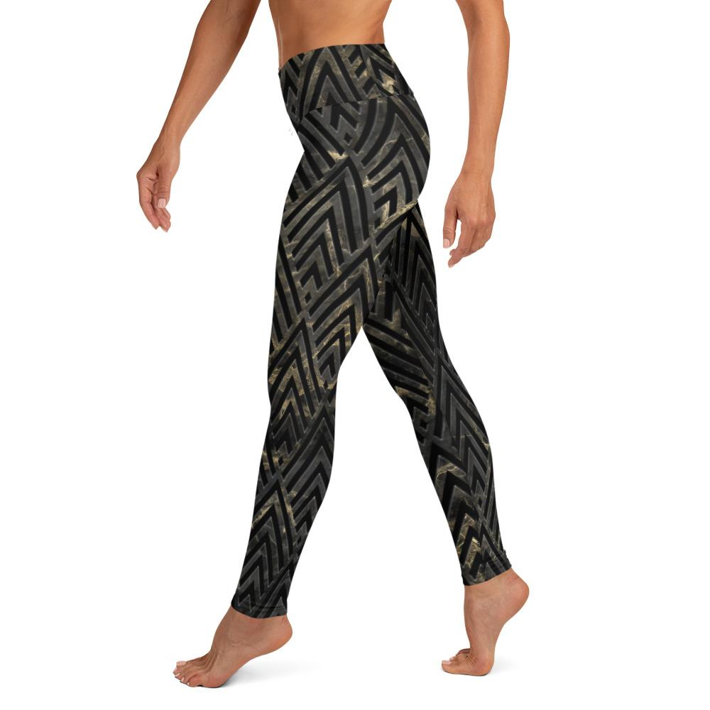 High Waist Art Deco Yoga Leggings