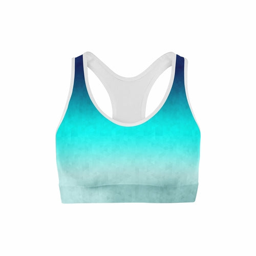 Load image into Gallery viewer, Riptide Triangles Sports Bra - MorphU LLC