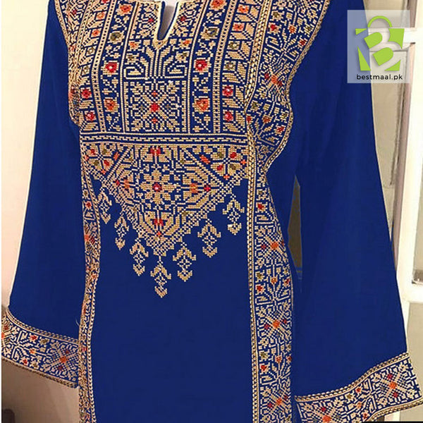 J. Lawn 2021 2pc | Blue | Full Embroidered