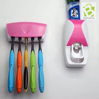 Tooth Paste Dispenser with Tooth Paste Holder