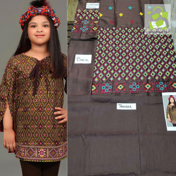 Kids Eid Collection Lawn 2 Piece - 01