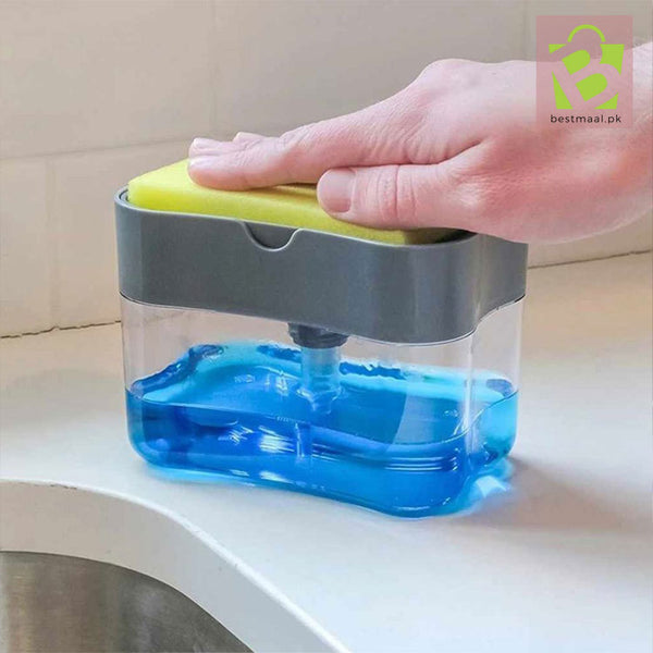 2-in-1 Pump Soap Dispenser and Sponge Caddy