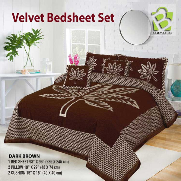 Velvet Bed Set Design - Dark Brown