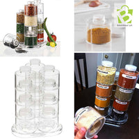 12 Spice Jar Spice Tower Spin Carousel