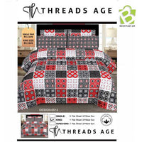 Threads Age King Size Bedsheet - Design 8