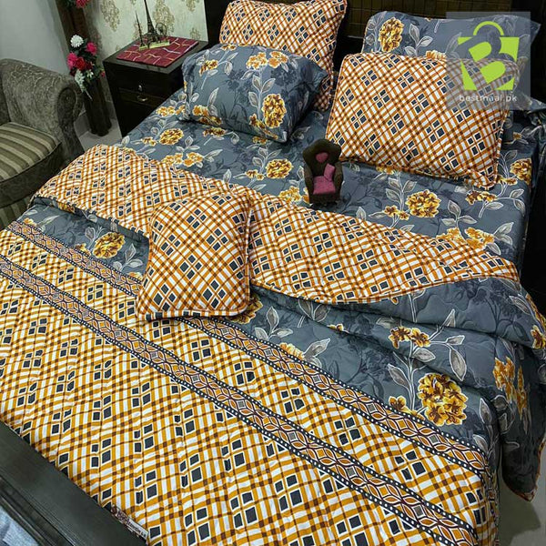 7 pcs comforter Cotton set (Limited Stock) - Gray