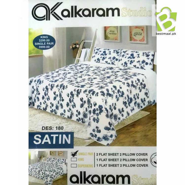 Alkaram Single Pair Bedsheet