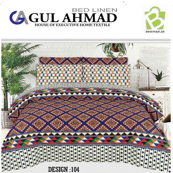 Gul Ahmed Bedsheet King Size | 006
