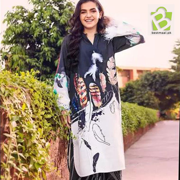 Unstitched Digital Printed Lawn 2 Pc Suit | Gul Ahmed | D-05