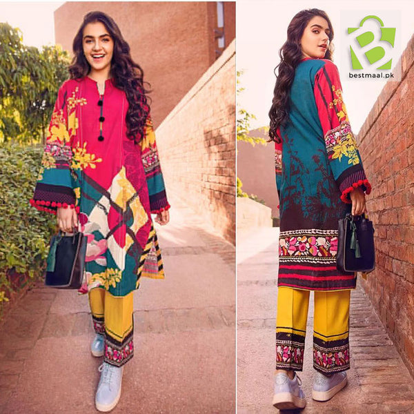 Unstitched Digital Printed Lawn 2 Pc Suit | Gul Ahmed | D-03