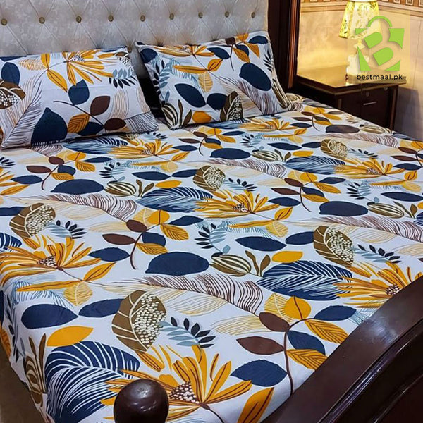 3 Pc Pure Cotton Bedsheet | D-08