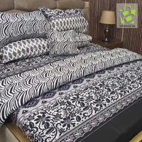 Nishat 7 pcs comforter Cotton set - Black