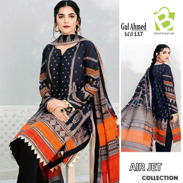 GUL AHMED Lawn Suit | 3 Pc | D-9