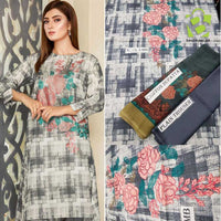 Limelight 3 Pc Unstitched Lawn Dress | Fabric Lawn | Chiffon Dupatta