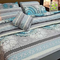7 pcs comforter Cotton set - Light Gray