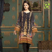 Original Mohagni Lawn Shirt 1 pc Unstitched - Black & Skin