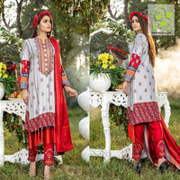 Original BIN DAWOOD 3Pc Winter Collection Areeba | Design 8
