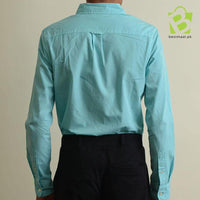 Exclusive Aeropostale Button Down Oxford Shirt - Sky Green - BestMaal