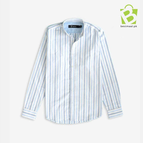 Exclusive Straight Row Shirt - Blue & White - BestMaal