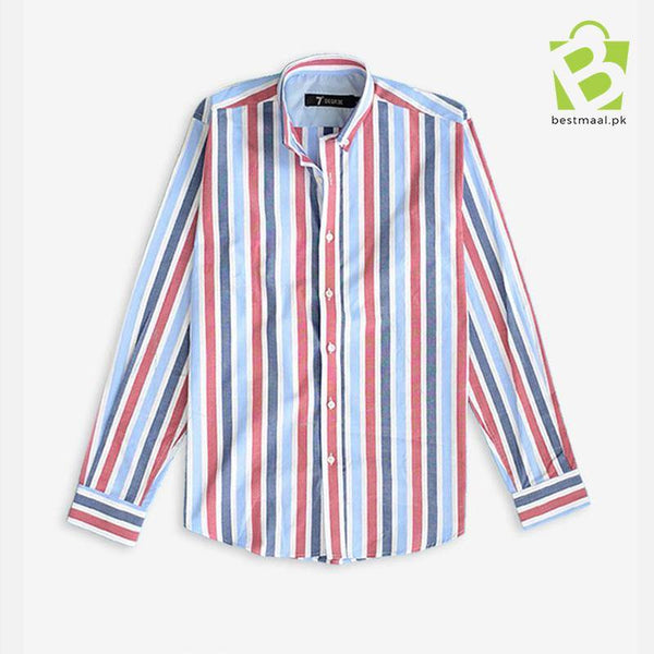 Exclusive Straight Row Shirt - Red & White - BestMaal
