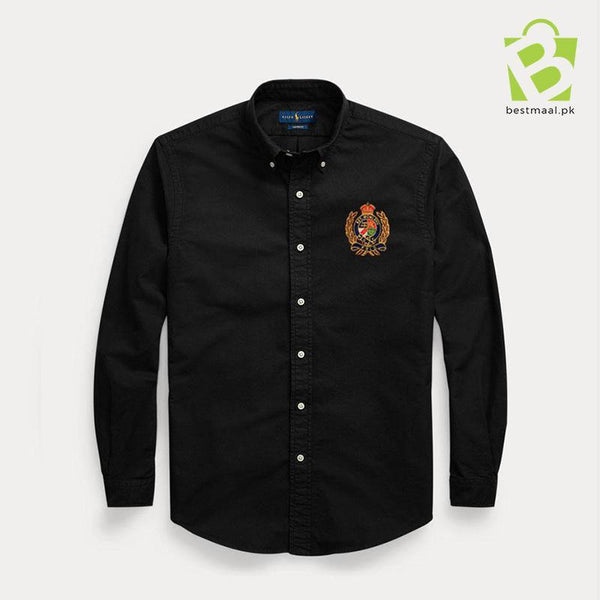 Iconic Oxford Motive Shirt - Black - BestMaal