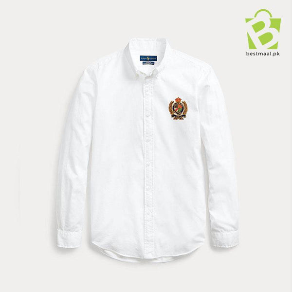 Iconic RL Oxford Motive Shirt - White - BestMaal