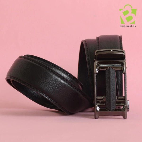 Premium Black Buckle Leather Belt - HRMS - BestMaal