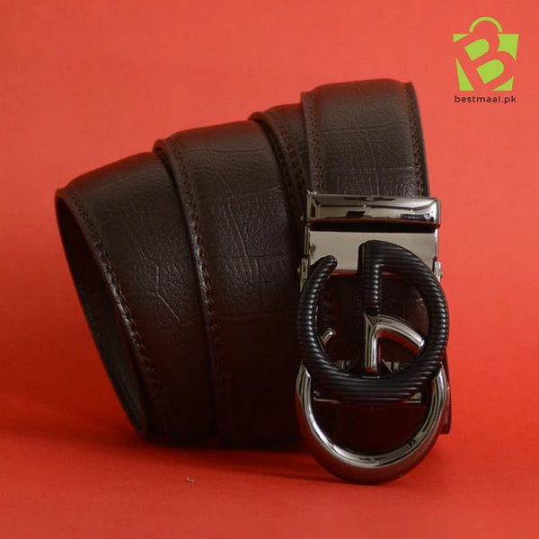 Premium Brown G.G Leather Belt - GU - BestMaal