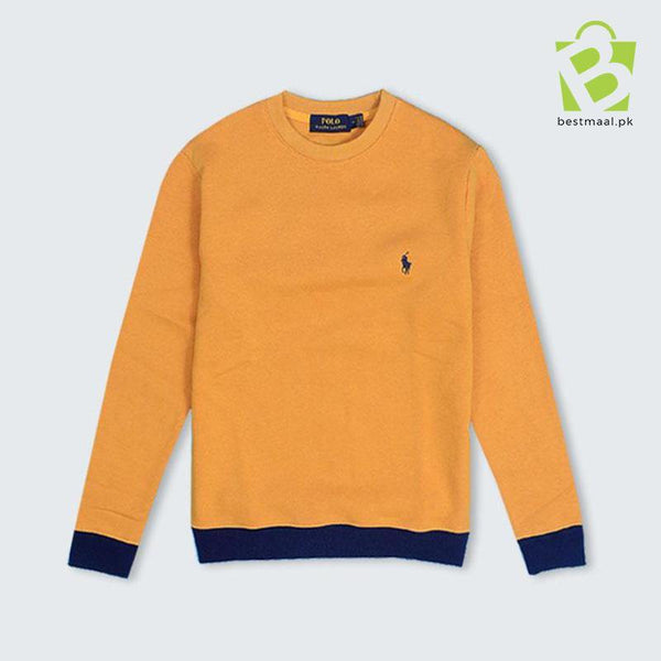 Premium Lite Fleece Pony Sweatshirt - Yellow - BestMaal