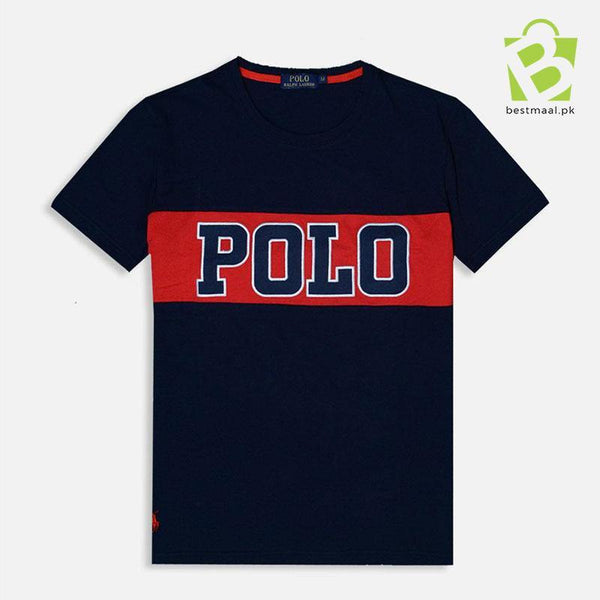 RL-Polo Patch Blue & Red T-Shirt - BestMaal