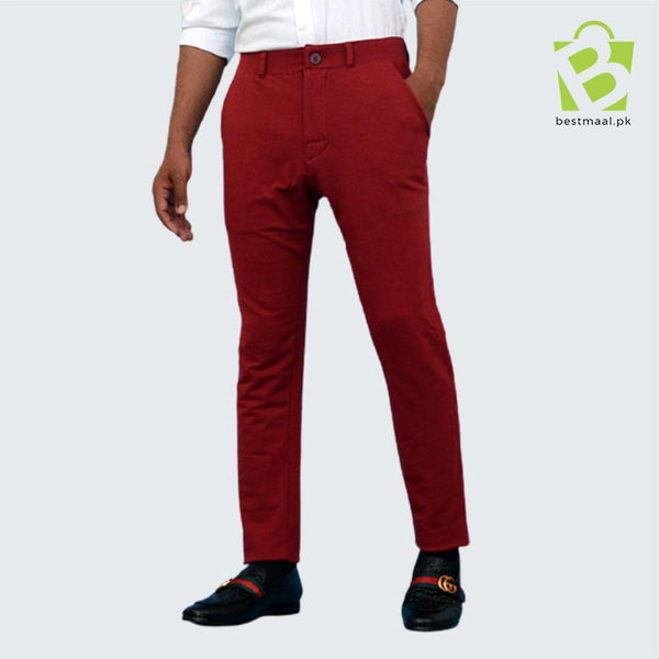 Slim Fit Terry Sweatpants - Maroon - BestMaal