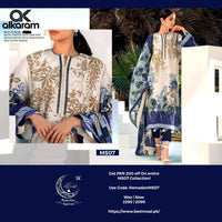 Alkaram Master Replica Lawn Dress 3Pc | D-80