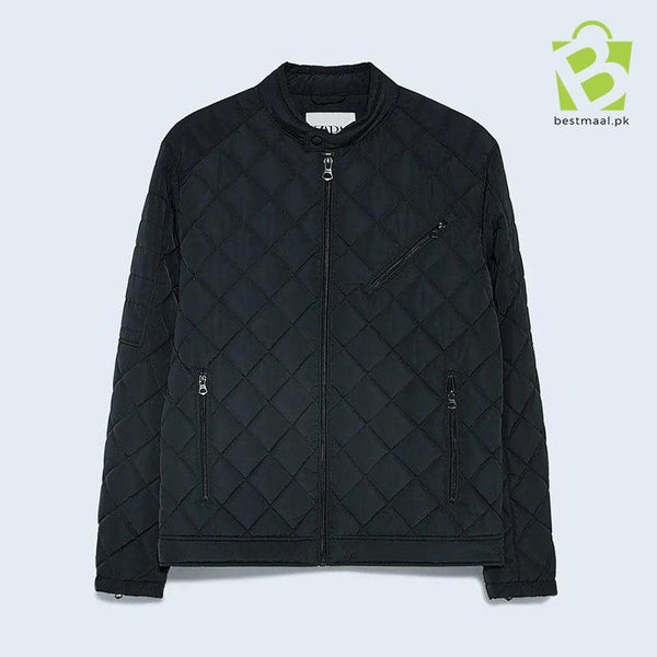ZARA Basic Quilted Jacket - Navy Blue - BestMaal