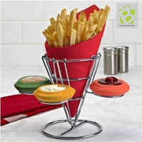 French Fries Holder With Metal Rack - BestMaal