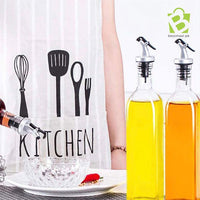 Kitchen Oil Glass Bottle Stainless Steel - BestMaal