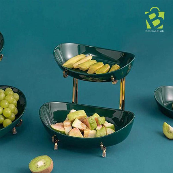 Two Tier Bowl Stand For Salad - BestMaal