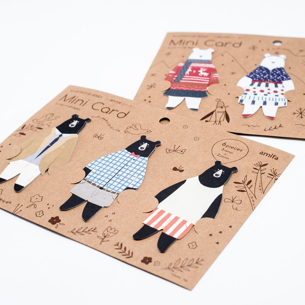 Message Cards (Bears/6 pcs)