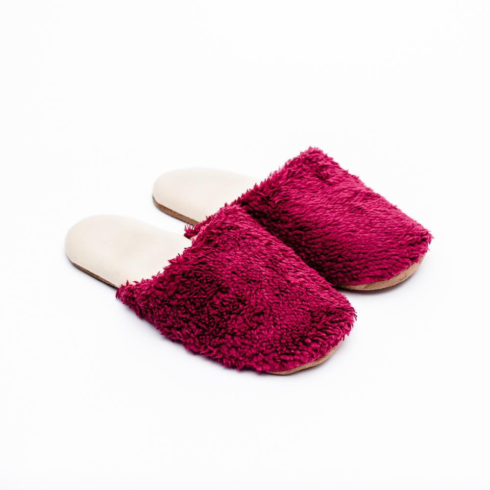 Boa Slippers (25.5cm)  Magenta / Teal