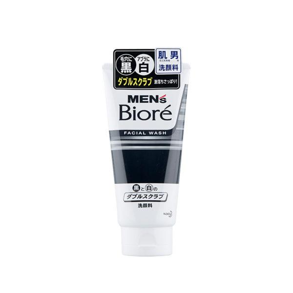 Biore Mens-Double Scrub Face Wash (130g)