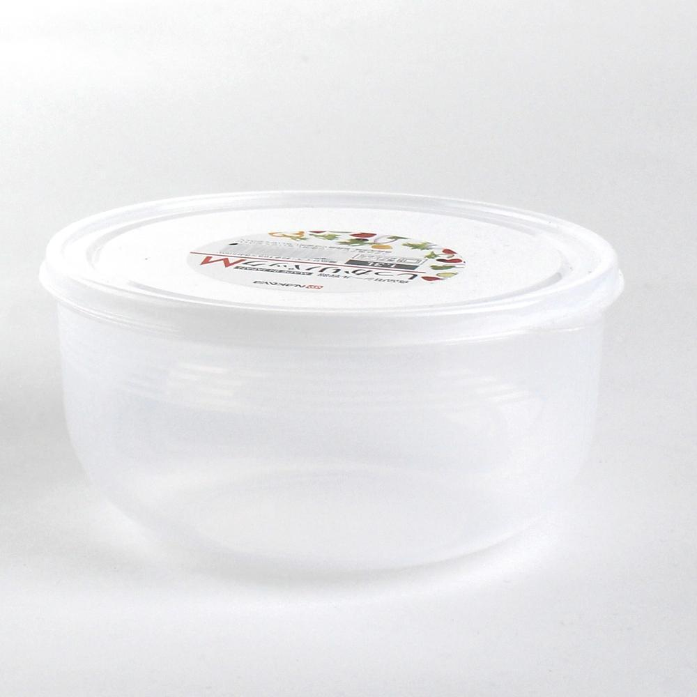Plastic Food Container (Microwavable/Round/CL/8.4x?16.8cm / 1.3L)